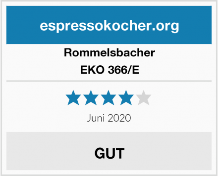 Rommelsbacher EKO 366/E Test