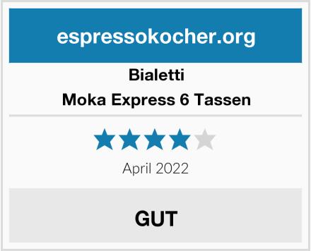 Bialetti Moka Express 6 Tassen Test