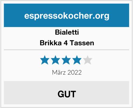 Bialetti Brikka 4 Tassen Test