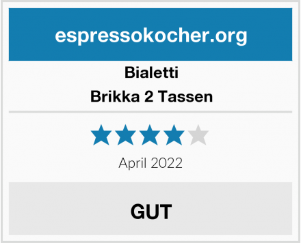 Bialetti Brikka 2 Tassen  Test