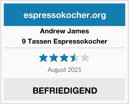 Andrew James 9 Tassen Espressokocher Test