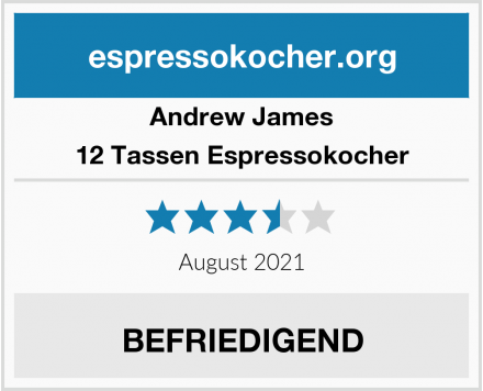 Andrew James 12 Tassen Espressokocher Test
