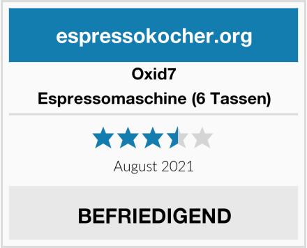Oxid7 Espressomaschine (6 Tassen) Test