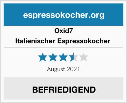 Oxid7 Italienischer Espressokocher  Test