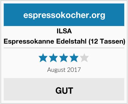 ILSA Espressokanne Edelstahl (12 Tassen) Test