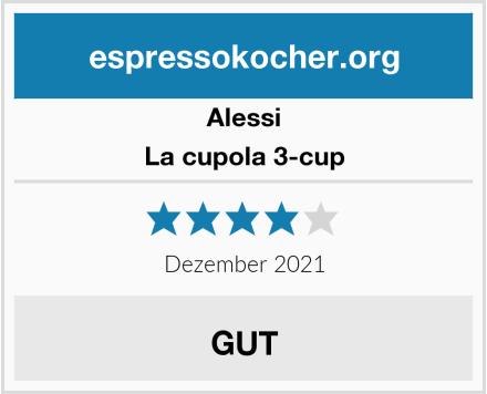 Alessi La cupola 3-cup Test