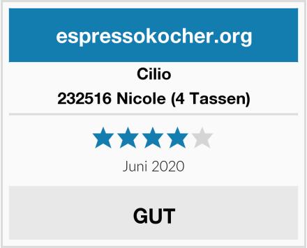 Cilio 232516 Nicole (4 Tassen) Test