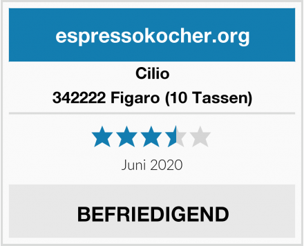 Cilio 342222 Figaro (10 Tassen) Test