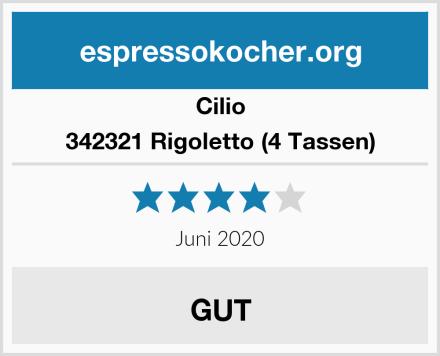 Cilio 342321 Rigoletto (4 Tassen) Test