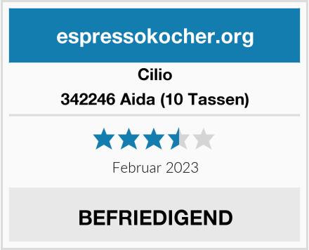 Cilio 342246 Aida (10 Tassen) Test