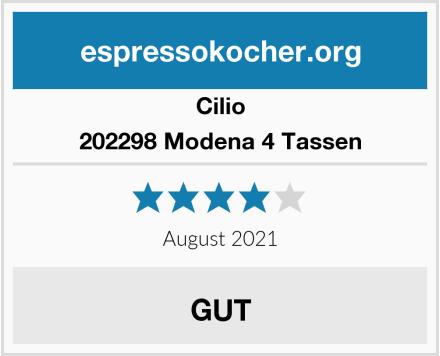 Cilio 202298 Modena 4 Tassen Test