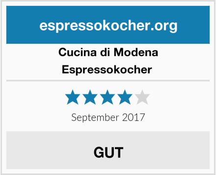 Cucina di Modena Espressokocher  Test