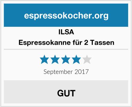 ILSA Espressokanne für 2 Tassen Test