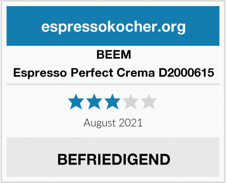 BEEM Espresso Perfect Crema D2000615 Test