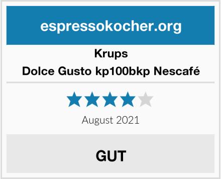 Krups Dolce Gusto kp100bkp Nescafé Test