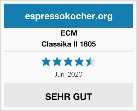 ECM Classika II 1805 Test
