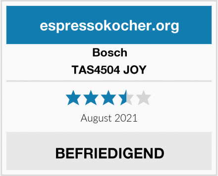 Bosch TAS4504 JOY Test