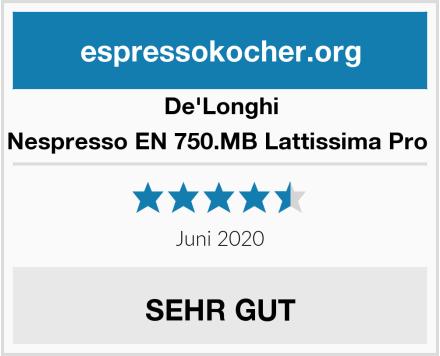 De'Longhi Nespresso EN 750.MB Lattissima Pro  Test