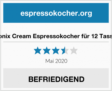 No Name Monix Cream Espressokocher für 12 Tassen Test