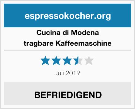 Cucina di Modena tragbare Kaffeemaschine Test