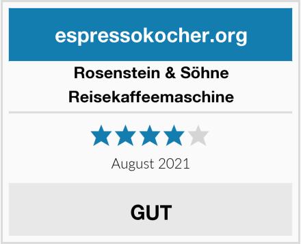 Rosenstein & Söhne Reisekaffeemaschine Test