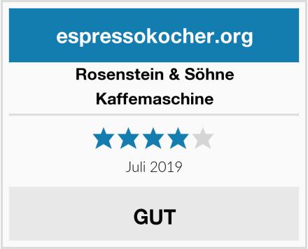 Rosenstein & Söhne Kaffemaschine Test