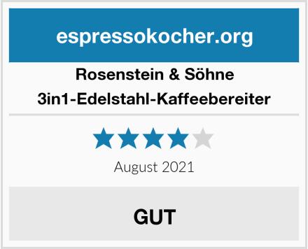 Rosenstein & Söhne 3in1-Edelstahl-Kaffeebereiter Test