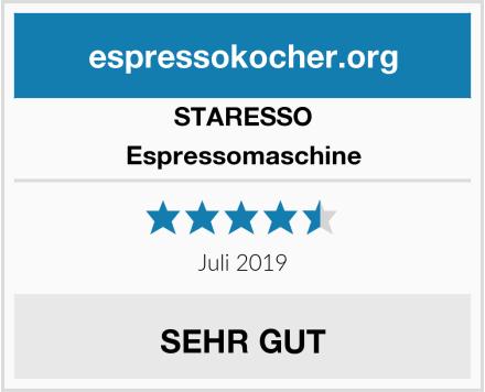 STARESSO Espressomaschine Test