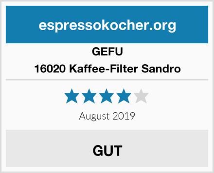 GEFU 16020 Kaffee-Filter Sandro Test