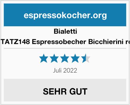 Bialetti RTATZ148 Espressobecher Bicchierini rot Test