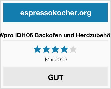 Wpro IDI106 Backofen und Herdzubehör Test