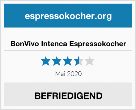 BonVivo Intenca Espressokocher Test