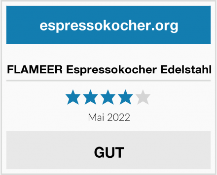 FLAMEER Espressokocher Edelstahl Test