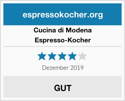Cucina di Modena Espresso-Kocher Test