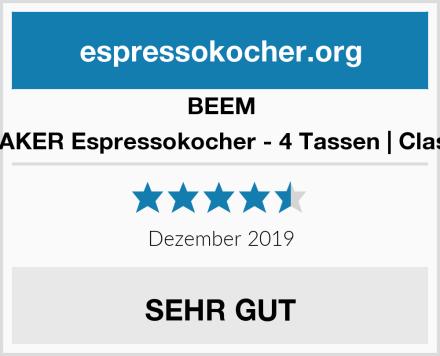 BEEM ESPRESSOMAKER Espressokocher - 4 Tassen | Classic Selection Test