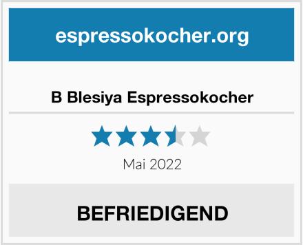 B Blesiya Espressokocher Test