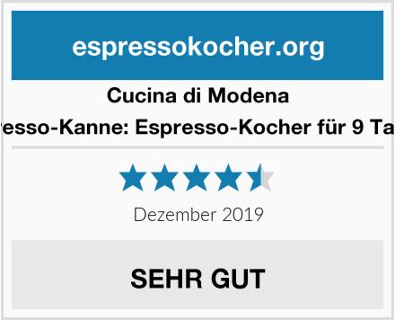 Cucina di Modena Espresso-Kanne: Espresso-Kocher für 9 Tassen Test