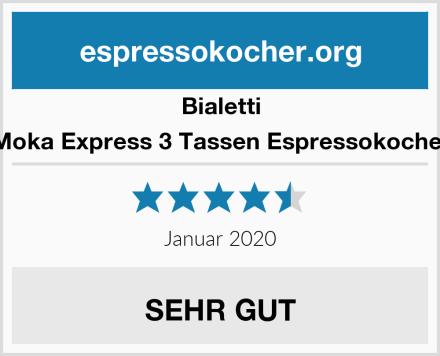 Bialetti Moka Express 3 Tassen Espressokocher Test