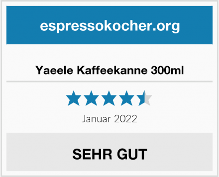 Yaeele Kaffeekanne 300ml Test