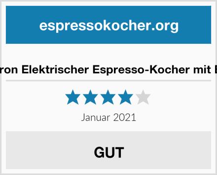 Bestron Elektrischer Espresso-Kocher mit Basis Test