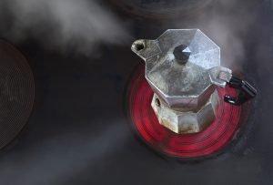 Ceranfeld zu groß für Espressokocher - was tun?