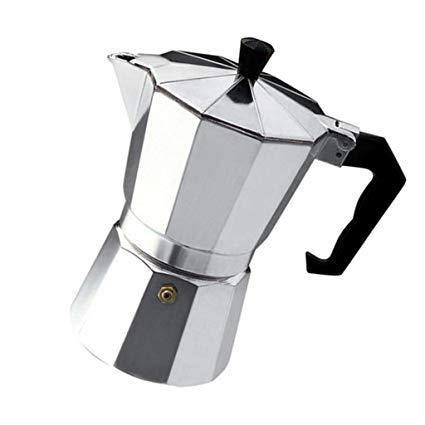 FLAMEER Espressokocher Edelstahl