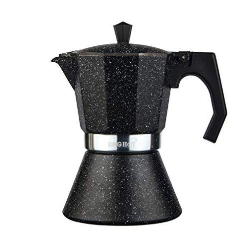 Kinghoff Schwarz Espressokocher 12 Tassen